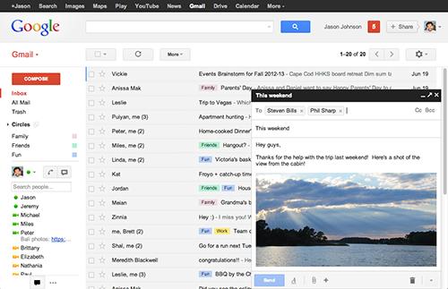 Gmail nền web thêm tính năng tự động hiển thị ảnh đính kèm